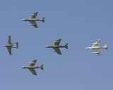 1 Venom, 3 Hunter-Trainers, 1 Hunter, Swiss Air Force