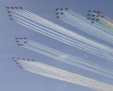 40 Rauchstreifen zum 40.Geburtstag der Patrouille Suisse