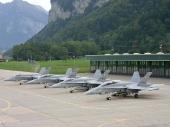 Hornet F/A-18 Lineup in Meiringen J-5014 J-5234 J-5024 J-5237