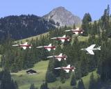 Patrouille Suisse mit Papyrus-Hunter
